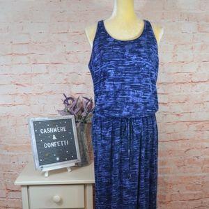 Athleta Cressida Blue Drawstring Maxi Dress C4